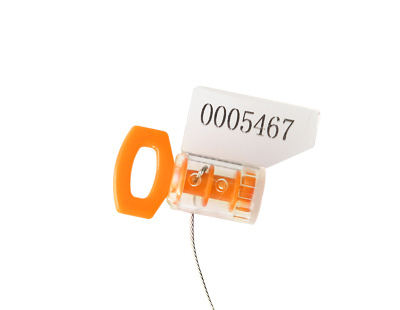 Twist tight meter seal with steel wire