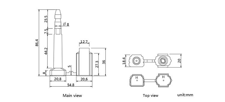 Standard iso 17712 compliant cargo bolt seals